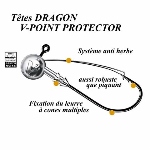 TÊTES PLOMBEES DRAGON V-POINT PROTECTOR / Têtes plombées